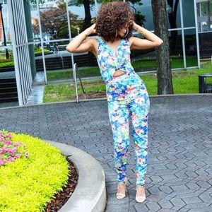 Pants - Flower Jumpsuit